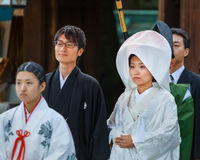 Japanese Traditional Wedding Ceremony Stock Image