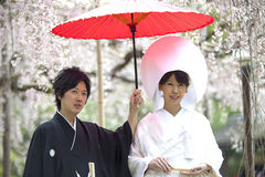 Japanese traditional wedding costum Royalty Free Stock Photography