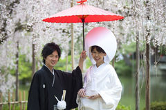 Japanese traditional wedding dress Stock Images