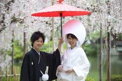 Japanese traditional wedding dress Stock Images