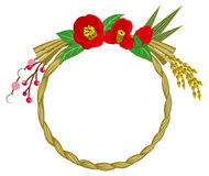 Japanese Traditional Wreath decoration, camellia Royalty Free Stock Photos