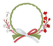 Japanese Traditional Wreath decoration, Plum blossom Stock Photo