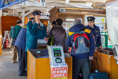 Japanese Train Conductor Royalty Free Stock Image