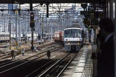 Japanese Train station Hakata at Fukuoka stock images