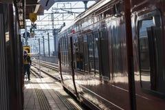 Japanese Train station Takeo-onsen eki stock photography