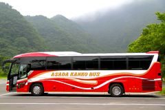 Japanese Travel Bus Royalty Free Stock Photos