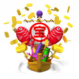 Japanese Treasure Ship Front Royalty Free Stock Images