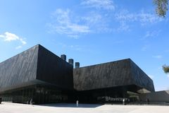 The 731 Japanese troops evidence Museum in Harbin China. ,Brick, concrete, black building,blue sky Stock Photos