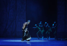 By the Japanese troops to catch up-The third act of dance drama-Shawan events of the past. Guangdong Shawan Town is the hometown of ballet music, the past Stock Photos