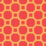 Japanese Turtle Shell Pattern. On yellow background royalty free illustration