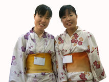 Japanese twins stock photo