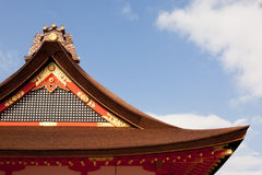 Japanese typical roof Royalty Free Stock Photography