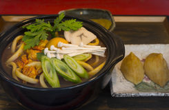 Japanese Udon Display Royalty Free Stock Image