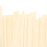 Japanese udon noodles isolated on white background. Royalty Free Stock Photo
