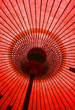 Japanese Umbrella. Underneath a Japanese umbrella royalty free stock images