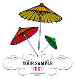 Japanese umbrella. In spring colors Royalty Free Stock Images