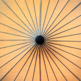 Japanese umbrella. From a bird eye view Royalty Free Stock Image