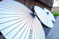 Japanese umbrella. Somewhere in Japan with Japanese umbrella Stock Photo