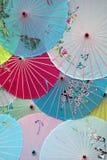 Japanese Umbrellas. Multiple Colorful Japanese Umbrellas stock photography
