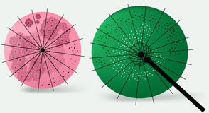 Japanese Umbrellas Stock Image