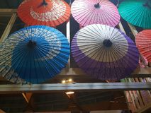 Japanese umbrellas stock photos