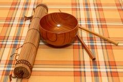 The Japanese utensils. Chopsticks, food, japanese, sushi, dinner, japan, eat, rice, asian, bowls Stock Images