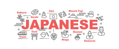 Japanese vector banner Royalty Free Stock Photography