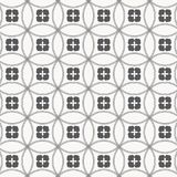 Japanese vector pattern. Repeating circle overlap each for flower and abstract Sakura flower at center. vector illustration