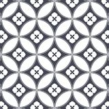 Japanese vector pattern. Repeating circle overlap each for flower and abstract Sakura flower at center. royalty free illustration
