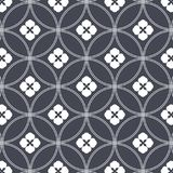 Japanese vector pattern. Repeating circle overlap each for flower and abstract Sakura flower at center. Royalty Free Stock Images