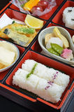 Japanese vegetarian lunch box Stock Image