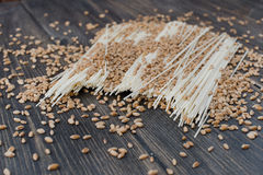 Japanese vermicelli noodles Stock Image