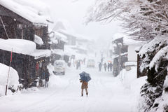 Japanese Village At Winter Royalty Free Stock Images