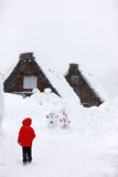 Japanese village at winter Royalty Free Stock Photography