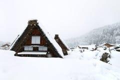Japanese village at winter Royalty Free Stock Image