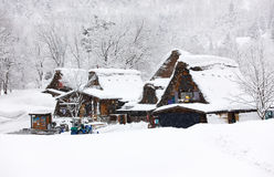 Japanese village at winter Royalty Free Stock Photos