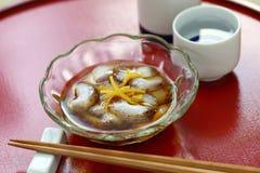 Japanese vinegared sea cucumber namako no sunomono royalty free stock photos