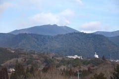 Japanese volcano Mt Shinmoedake venting gases Stock Images