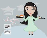 Japanese Waiter Royalty Free Stock Photography