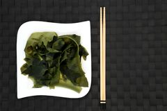 Japanese Wakame Seaweed Stock Photo