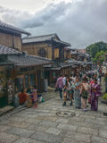 Japanese walking street Royalty Free Stock Image