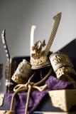 Japanese warrior's helmet Royalty Free Stock Image