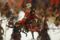 Japanese warriors figure stock image