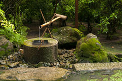Japanese water bamboo fountain Stock Photography