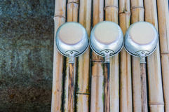 Japanese water dippers in a shrine Royalty Free Stock Photography