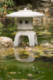 Japanese water feature Royalty Free Stock Photo