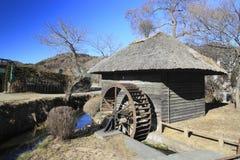 Japanese water wheel Stock Image