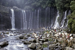Japanese waterfall Royalty Free Stock Image