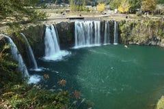 Japanese waterfall, waterfall of Harajiri. Japan, Kyushu, Oita prefecture, tourist spot Stock Photos