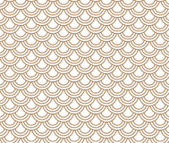 Japanese wave circle pattern brown and white background. Stock Photos